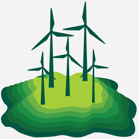 Eko - energy concept and ecology idea