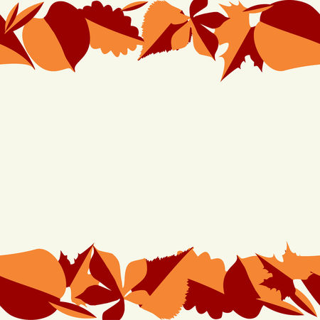Autumn background with leaves. Vector seamless pattern background.