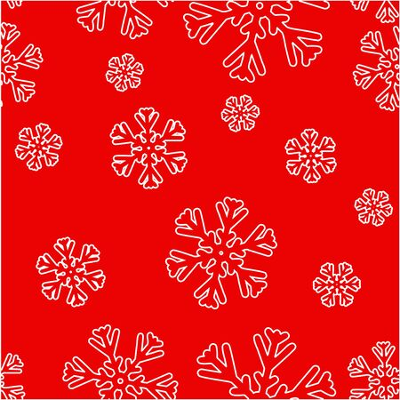 Vector seamless background with snowflakes. Illustration