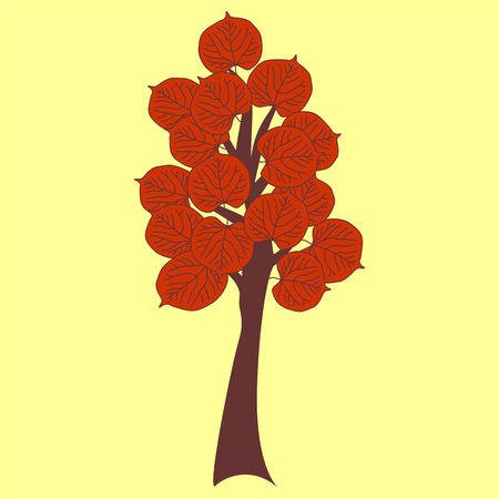 Autumn tree. Vector graphic illustration. Illustration