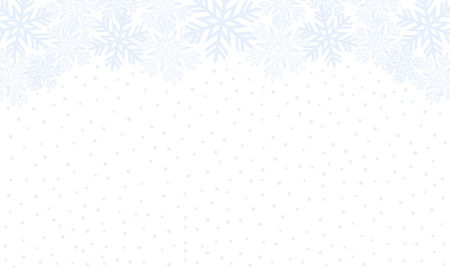 Background with blue snowflakes. Vector graphic winter pattern.