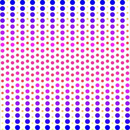 Colorful dot pattern. Vector background. Vectores