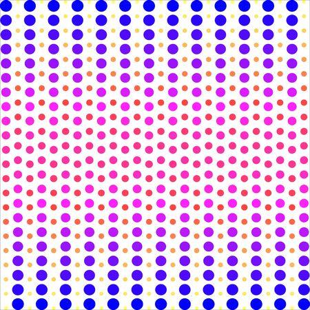Patrón de puntos de colores. Fondo de vector.