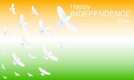 Concept for Indian independence day. Happy independence day. Vector graphic illustration.