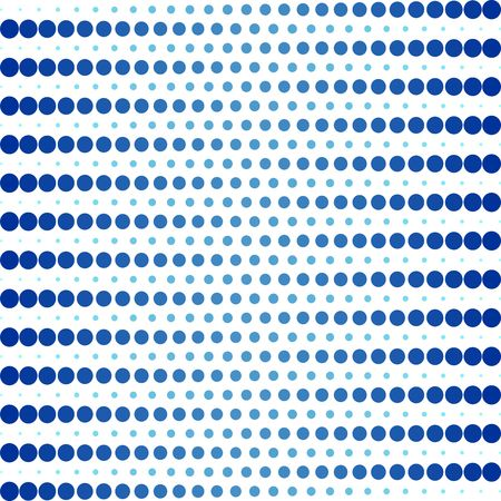Blue dot pattern. Vector background.