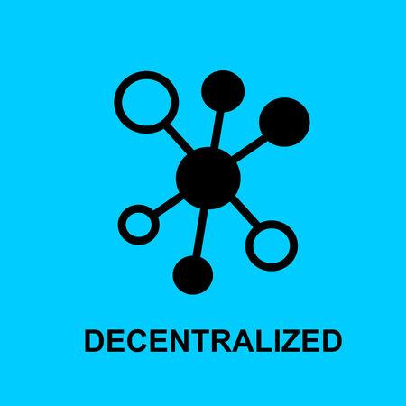 Block chain flat icon. Decentralized symbol. Vector Illustration. Block Chain Technology Concept. Illustration