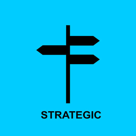 Block chain flat icon. Strategic symbol. Vector Illustration. Block Chain Technology Concept.