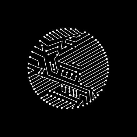 Technology communication cybernetic element. Vector abstract. Vektorové ilustrace