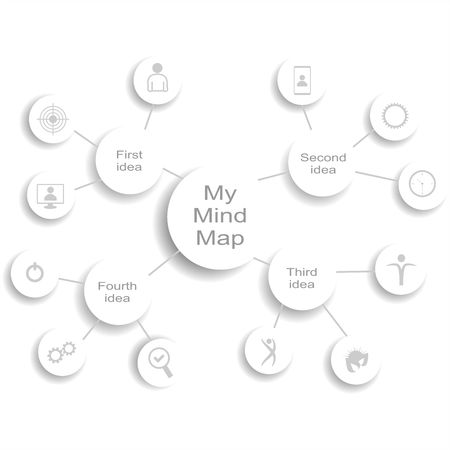 Abstract mind map infographic. Vector graphic illustration.