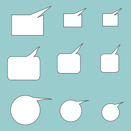 Set of blank communication bubbles. Vector graphic illustration.