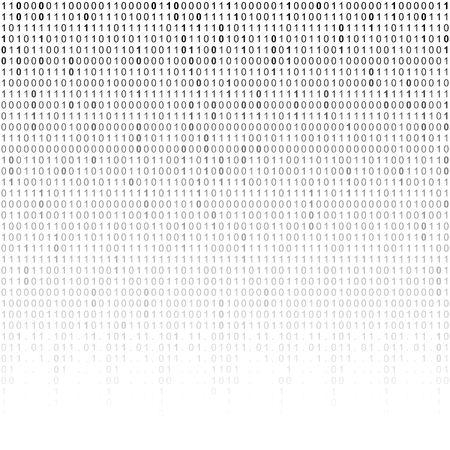 Falling binary code background. Digital technology wallpaper. Vector graphic illustration.