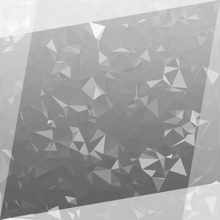 Abstract Grey Polygon background. Low Poly Creative template or pattern.