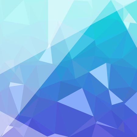 Abstract Blue Polygon background. Low Poly Creative template or pattern. Illustration