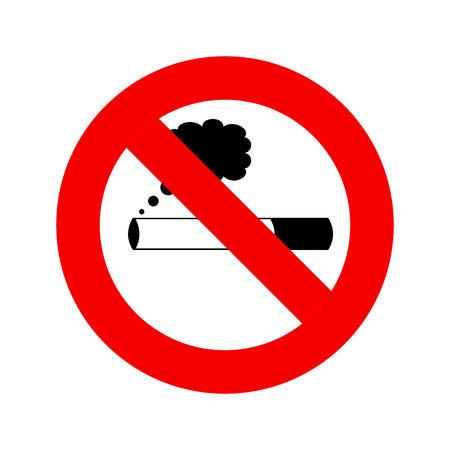 No smoking sign. Smoking ban symbol on white background. Vector flat graphic illustration. Vettoriali