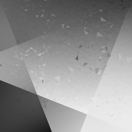 Abstract grey, black and white polygon background. Low Poly Creative template or pattern. Illustration
