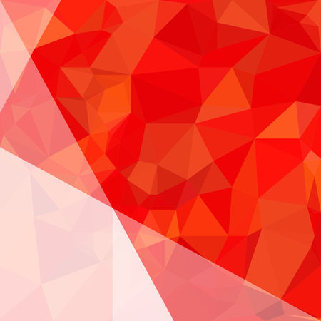 Abstract orange and red polygon background. Low Poly Creative template or pattern. Illustration