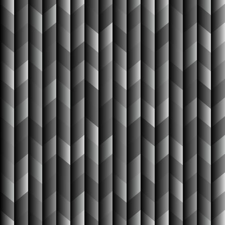 Abstract dark seamless background pattern with rhomboids.Vector 3D graphic illustration in grayscale.