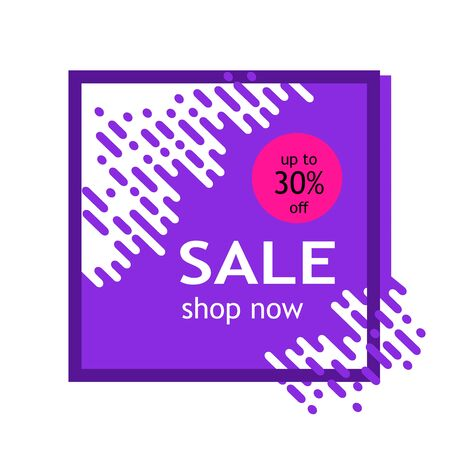 ale banner template design. Big sale, special offer, discounts, up to 30% off. Vector illustration