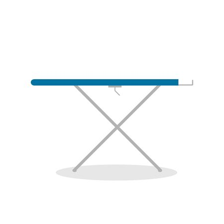 Ironing board. Vector color icon on white background. Stock Illustratie