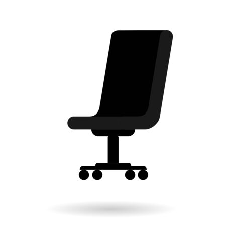 Office chair with shadow. Vector graphic illustration on white background. Illustration