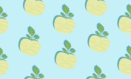 Seamless blue background with cherubs with shadow. Vector  illustration design with vegetables for template. Illustration