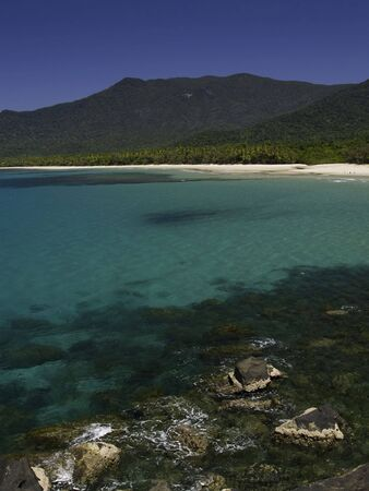 tribulation: Turquoise water at cape tribulation australia. Stock Photo