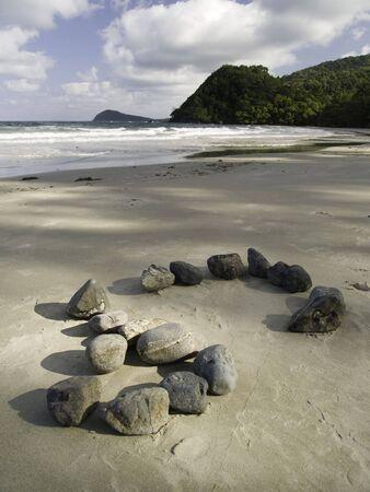A beach in Cape Tribulation Australia. Banco de Imagens