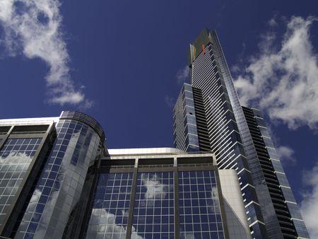 Briliantly reflective buildings in downtown Melbourne Australia. Reflection Down Under 1 Banco de Imagens - 2817985
