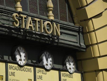 Train station in Melbourne Australia.