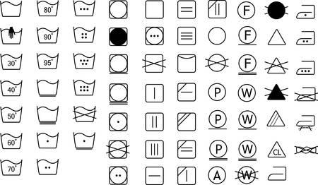 Wasserij symbolen labelverzameling Stock Illustratie