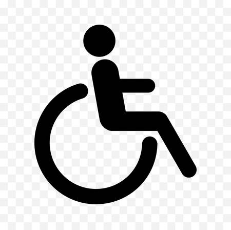 Disabled icon on white background, vector illustration.
