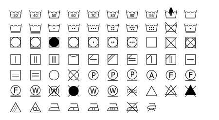 Wassymbolenetiket op witte achtergrond, vectorillustratie wordt geplaatst die.