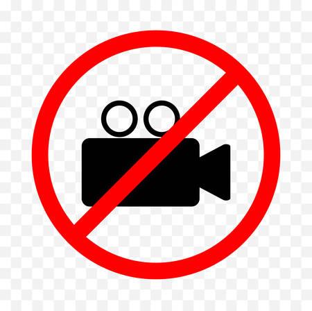 no filming sign Illustration