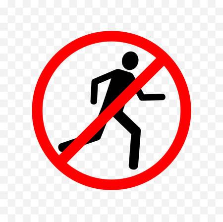 nessun segno di corsa