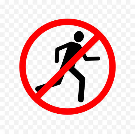 restricted area sign: no running sign