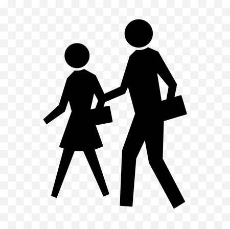 A pedestrians icon.