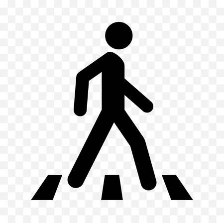 Pedestrians warning sign illustration.