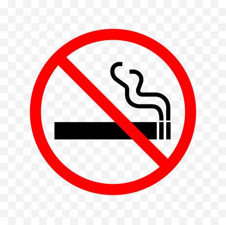 niet roken teken vector illustratie.