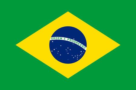 Brazil national flag real colors.