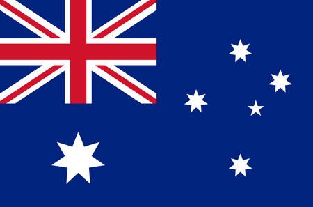 australia national flag real colors Vector illustration.