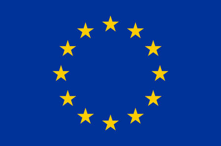 European union flag real colors. Illustration