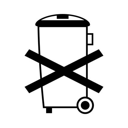 recycle bin icon, do not recycle, do not throw away