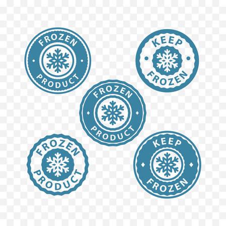 냉동, 냉동 식품, 냉동 제품 포장 라벨 스탬프 스티커 기호 유지