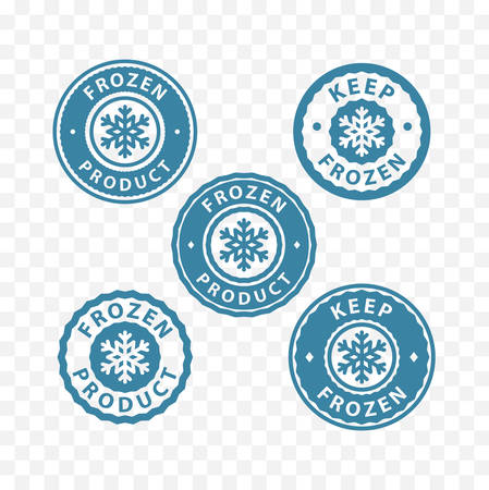 Keep frozen, frozen food, frozen product packaging label stamp sticker symbols