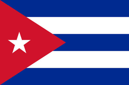 cuban national flag in accurate colors, official flag of cuba in exact colors, real colors Vector Illustration