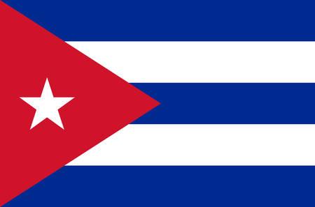 kubanische Nationalflagge in genauen Farben, offizielle Flagge Kubas in genauen Farben, echte Farben Vektorgrafik
