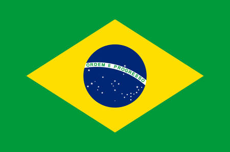 brazilian national flag in accurate colors, official flag of brazil in exact colors, real colors