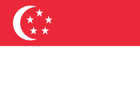A singaporean national flag, official flag of singapore accurate colors