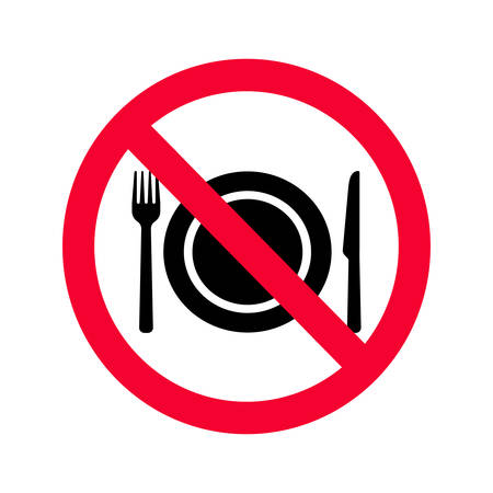 aucun manger autorisé signe . interdiction rouge signe de l & # 39 ; alimentation ne pas . aucun signe manger Vecteurs