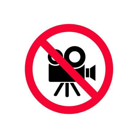 Żadne kamery wideo nie są dozwolone. Brak znaku zakazu nagrywania. Brak znaku wideo.